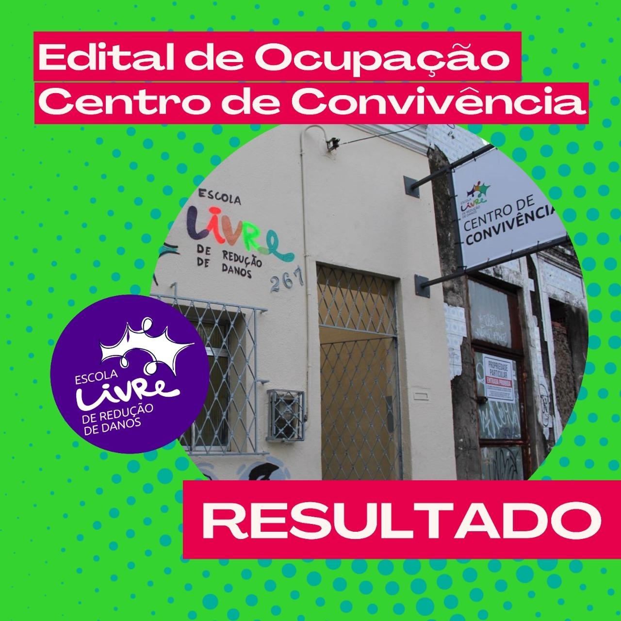 Pessoas selecionadas pelo edital de Ocupação do Centro de Convivência.