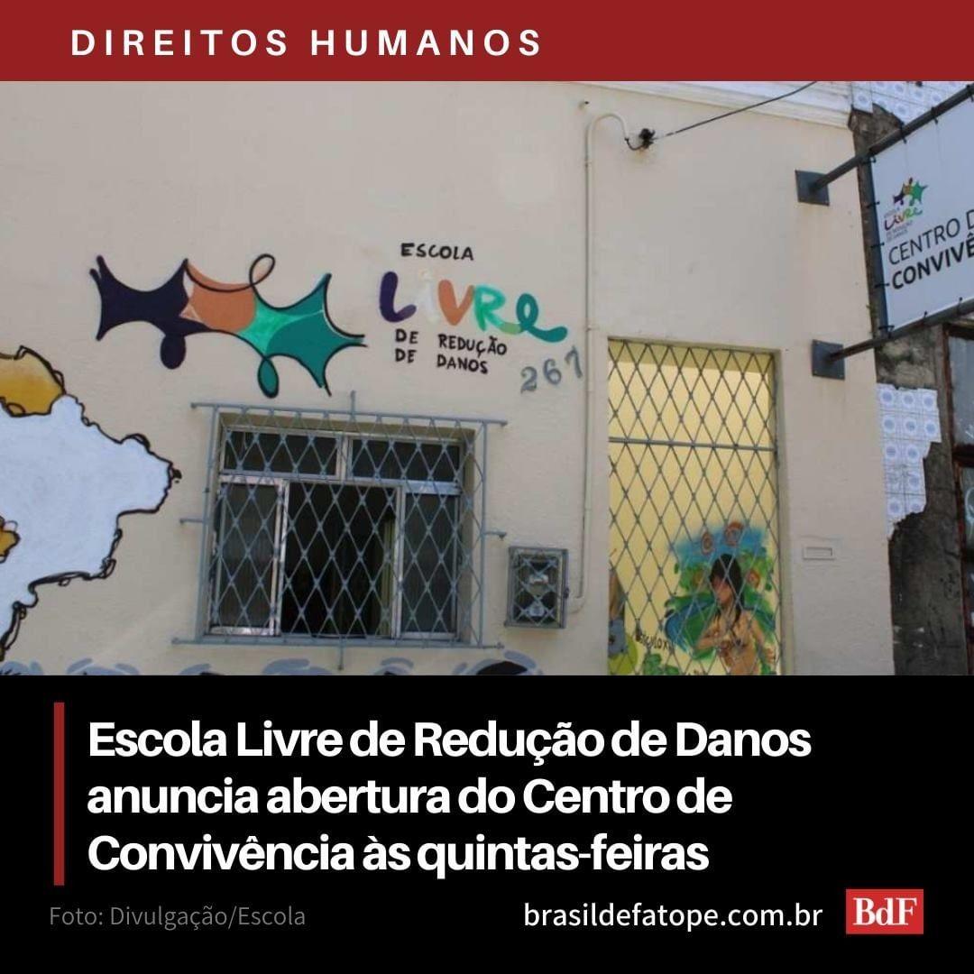 (Instagram do Brasil de Fato)Escola Livre de Redução de Danos anuncia abertura do Centro de Convivência às quintas-feiras