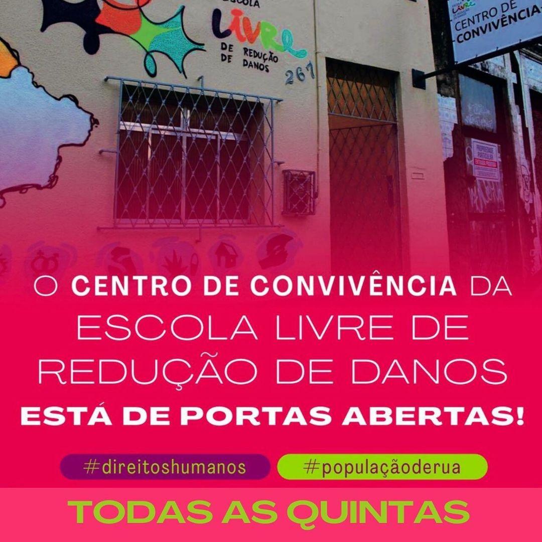 O CENTRO DE CONVIVÊNCIA ESTÁ DE PORTAS ABERTAS